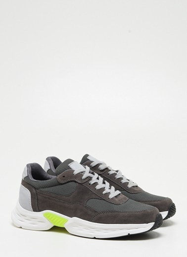 F By Fabrika Erkek Bej Sneakers FRED Gri